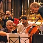 Luca Magariello with Mikk Üleoja and Giovanni Bonato